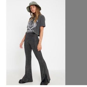 M Urban Outfitters Hi-Rise Glitter Flares nwt new